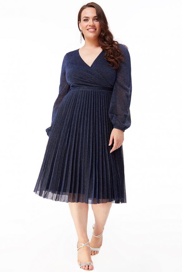 Granatowa sukienka lureksowa Goddiva