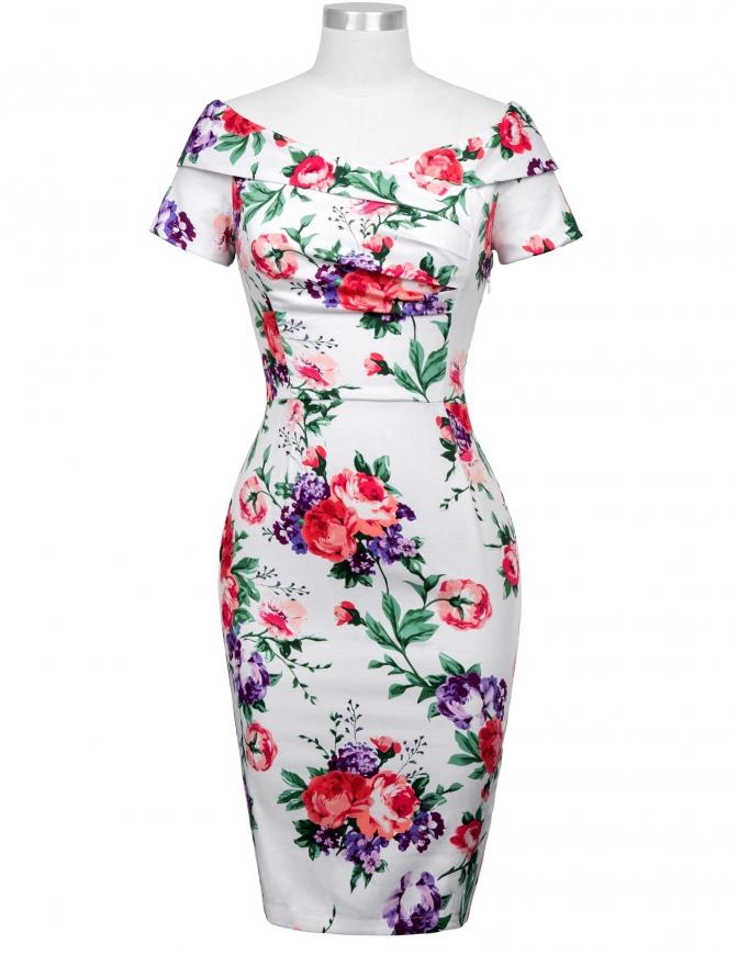 Kwiatowa sukienka elegancka na komunię, wesela, święta