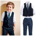 Elegancki garnitur dla chłopca 4 częściowy na Komunie, Święta