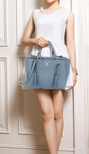 Szaro błękitna torebka damska