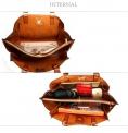 Duża torebka damska w kolorze karmelowym