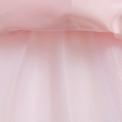 Elegancka jasno różowa sukienka dla dziewczynki z haftem