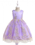 Jasno fioletowa sukienka dla dziewczynki na wesele, na święta