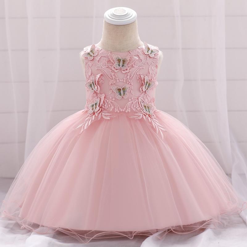Tiulowa sukienka dla dziewczynki z motylkami