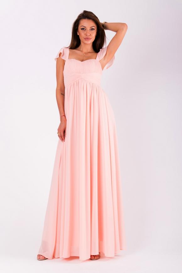 Jasno różowa sukienka dla druhny