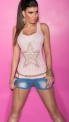 Jasno różowa bokserka damska z jetami