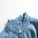 Modna sukienka dla dziewczynki z jeansową koszulą i tiulową spódnicą tutu