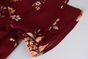 Czarna tunika plus size z kwiatowym wzorem