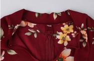 Biała elegancka tunika plus size w kwiaty