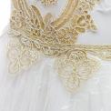 Fenomenalna sukienka komunijna z złotym haftem
