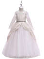 Biała sukienka dla dziewczynki w barokowym stylu