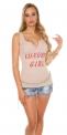 Jasno różowa koszulka z kryszałkami