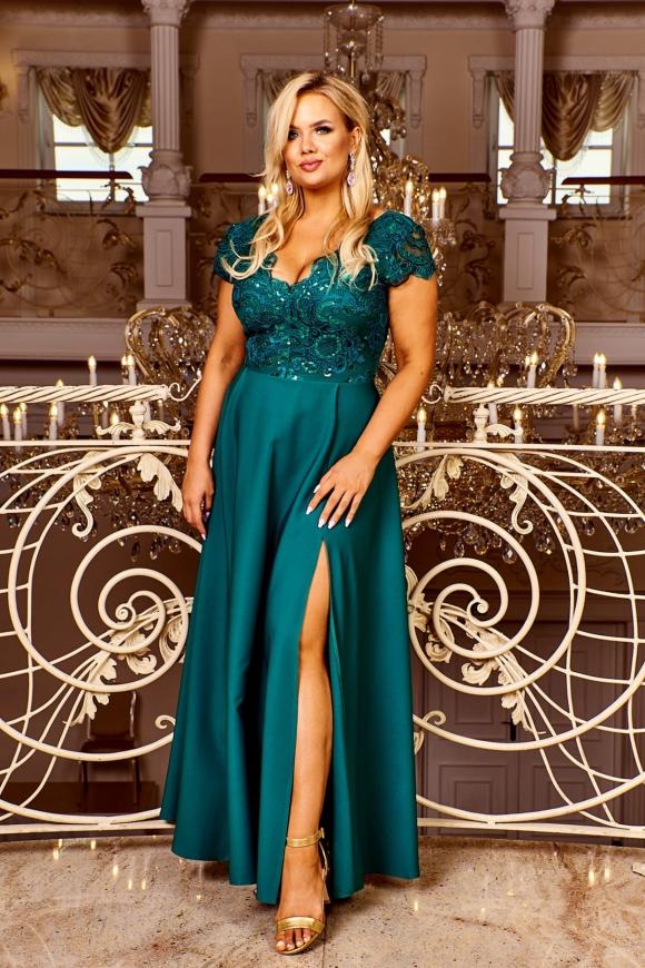 Szmaragdowa sukienka wieczorowa, Crystal 2