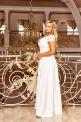 Ślubna suknia ecru z koronką i cekinami, Crystal 2