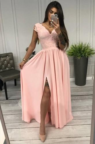 Fenomenalna sukienka dla druhny, na wesele, cukierkowy róż Chantell
