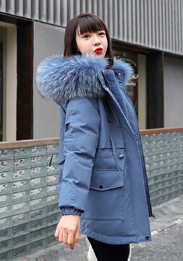 Zimowa kurtka na zimę w kolorze niebieskim