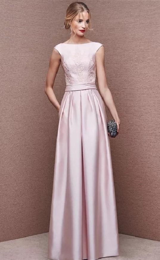 Jasno różowa sukienka wieczorowa Joanna
