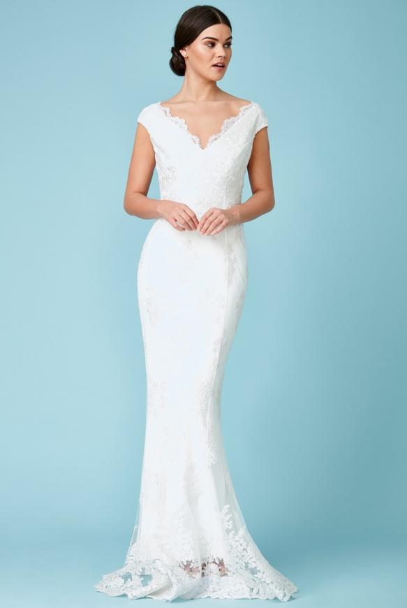 Elegancka koronkowa sukienka ślubna