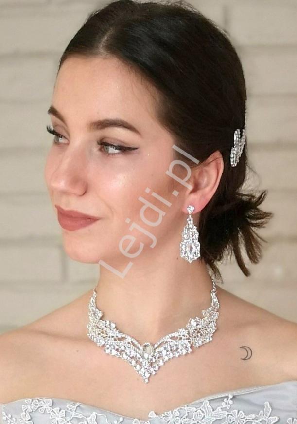 Biżuteria ślubna, kolczyki i kolia