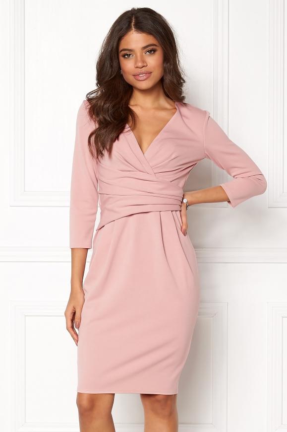 Elegancka sukienka w pudrowo różowym kolorze, Goddiva 918A