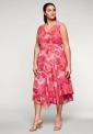 Kwiatowa sukienka plus size z szyfonu, Sheego