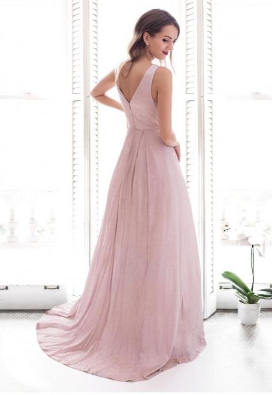 Fenomenalna sukienka wieczorowa z trenem