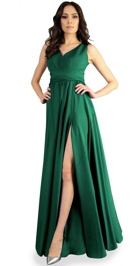 Zielona sukienka na wesele, na studniówkę, długa suknia wieczorowa rozmiary 34- 52, m374