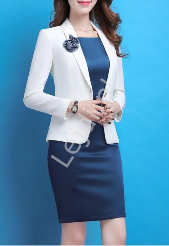 Biznesowy komplet elegancki, ołówkowa sukienka i żakiet 5431