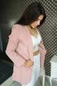 Pudrowo różowy żakiet Włoski